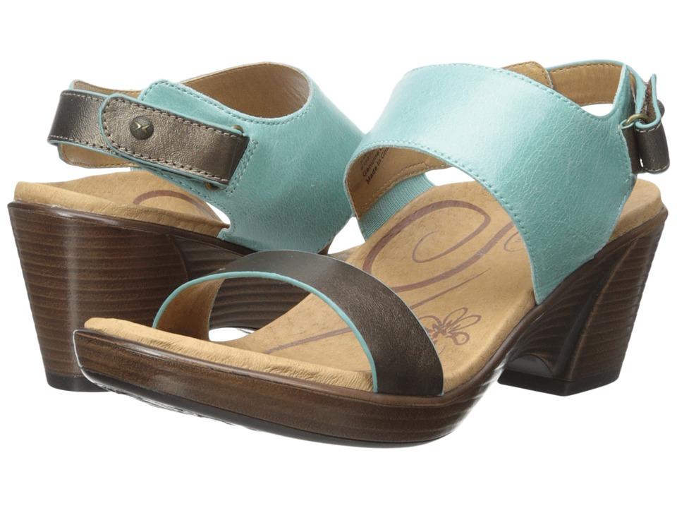 Aetrex Peyton Wedge Sandal Aqua Womens Wedge Shoes