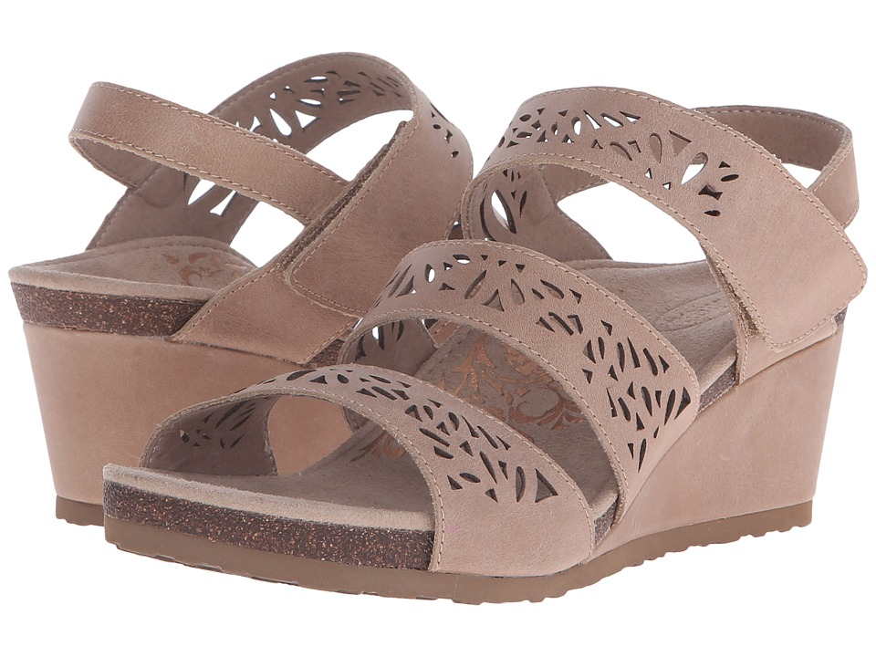 Aetrex Lexi Wedge Sandal (Tan) Women