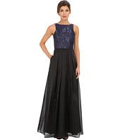 Aidan Mattox - Ball Gown w/ Textured Jacquard Bodice