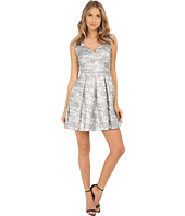 Aidan Mattox - V-Neck Jacquard Dress