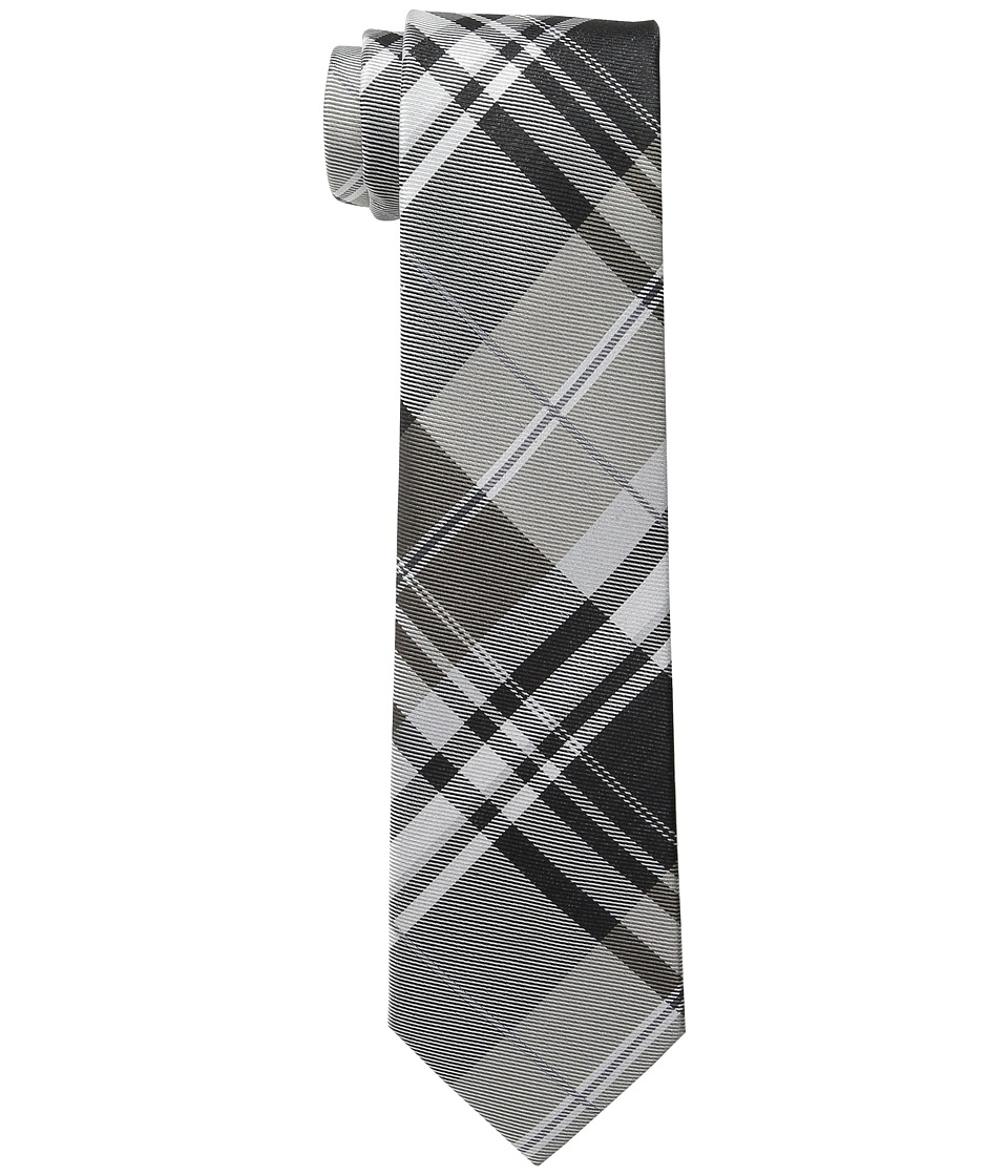 Kenneth Cole Reaction Open Ground Plaid Black Ties