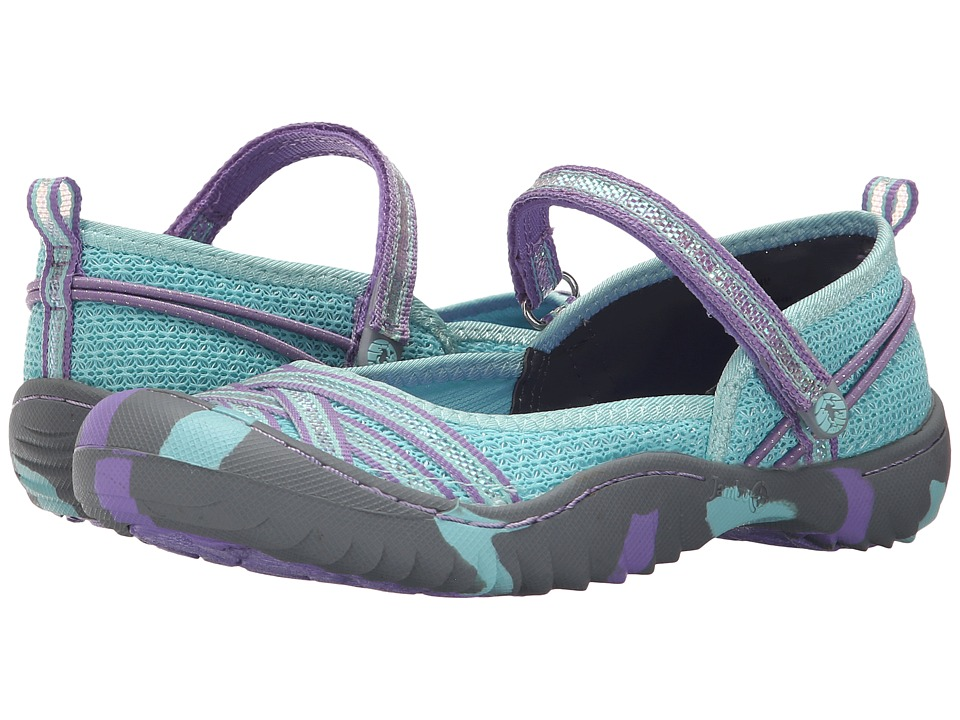Jambu Kids Fia 4 Toddler/Little Kid/Big Kid Aqua/Purple Girls Shoes
