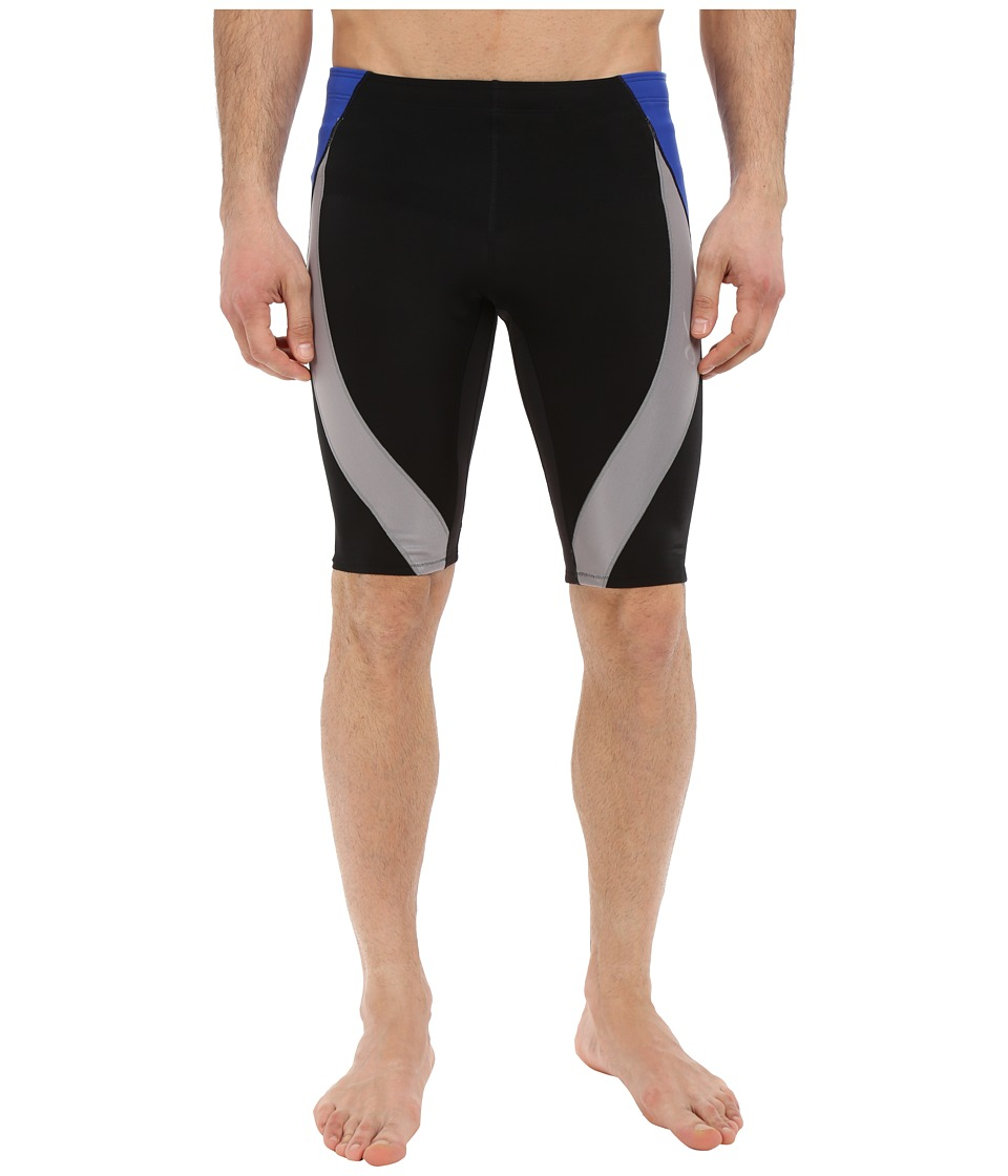 CW X Endurance Generator Shorts Black/Grey/Blue Mens Shorts