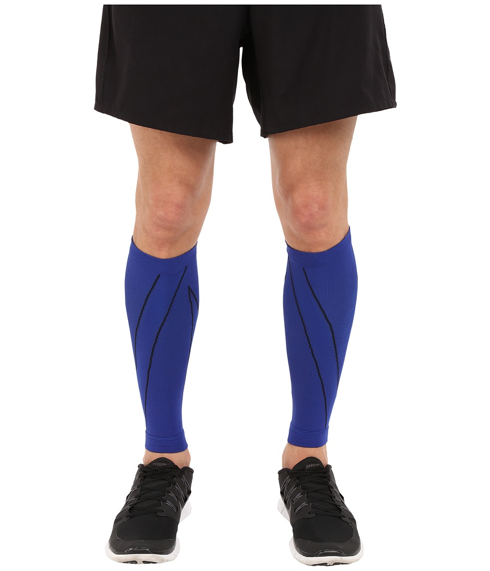 CW X PerformX Calf Sleeves Blue/Black Athletic Sports Equipment