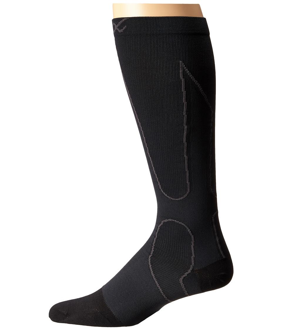 CW X PerformX Socks Black/Grey Crew Cut Socks Shoes