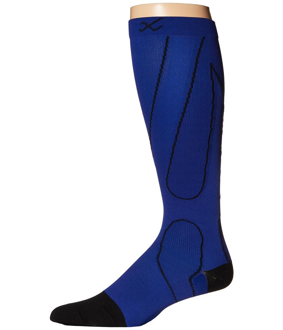 CW X PerformX Socks Blue/Black Crew Cut Socks Shoes