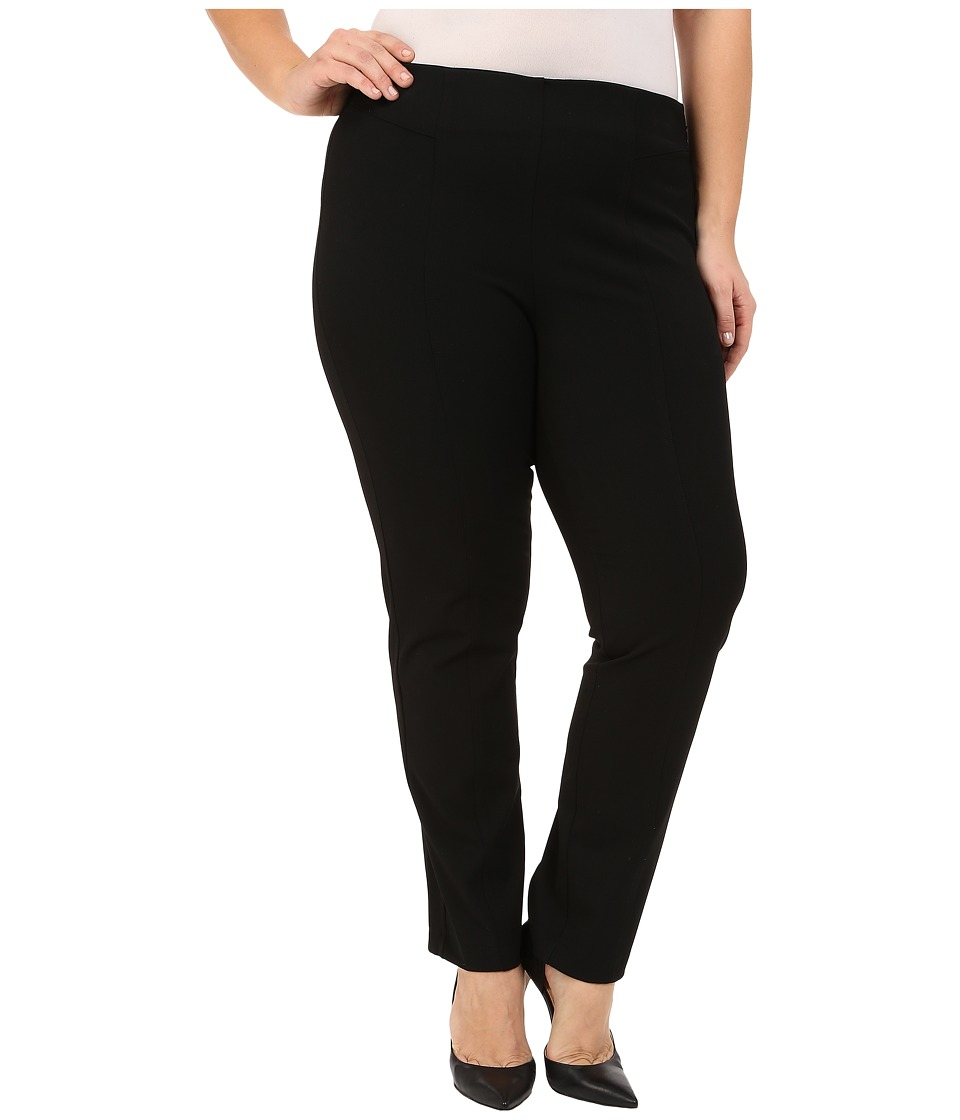 Vince Camuto Specialty Size - Plus Size Front Seam Pants (Rich Black) Womens Casual Pants