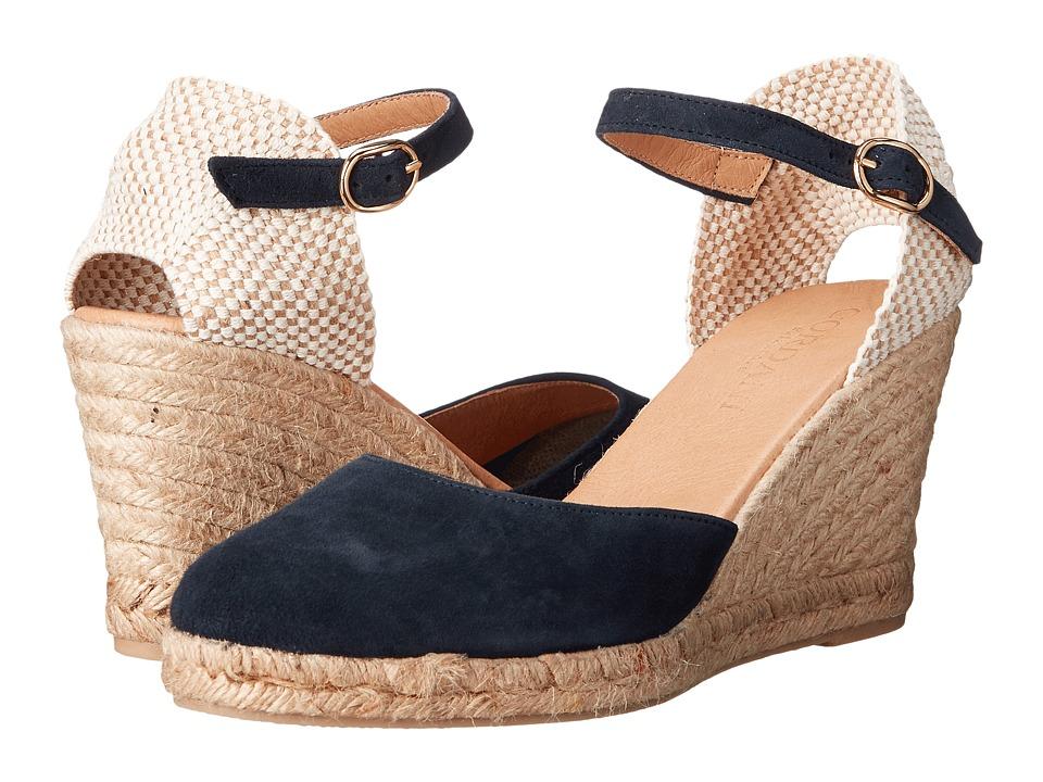 Cordani Elisha Navy Suede Womens Wedge Shoes
