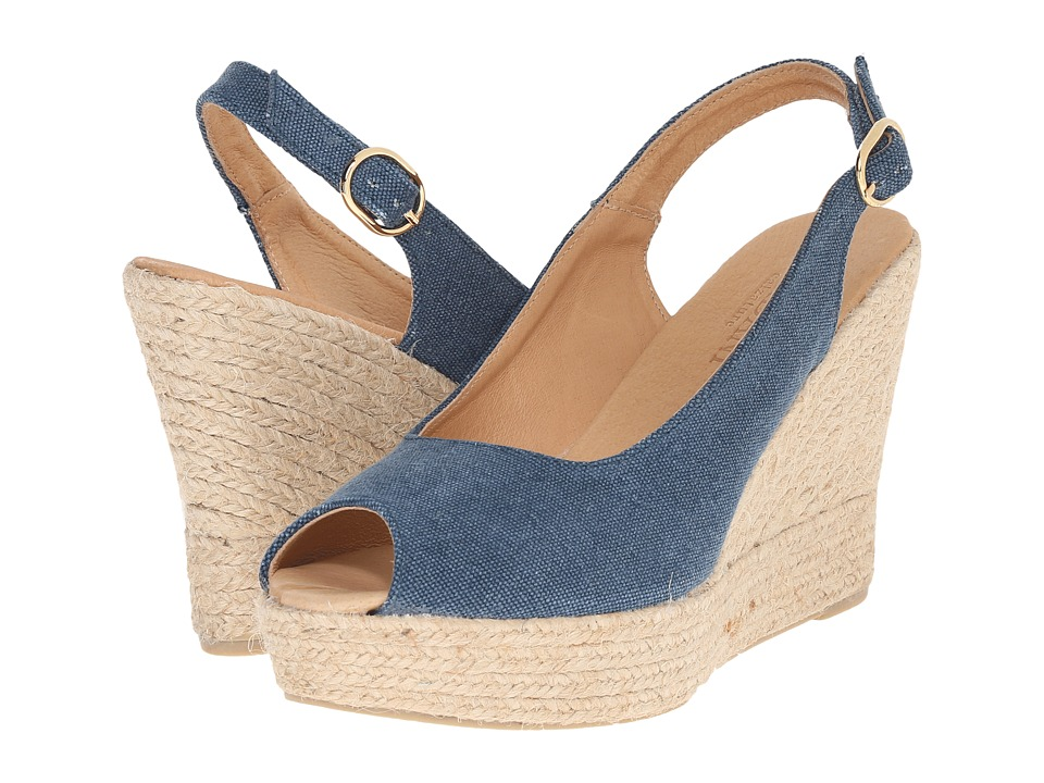 Cordani Elixir Denim Linen Womens Wedge Shoes