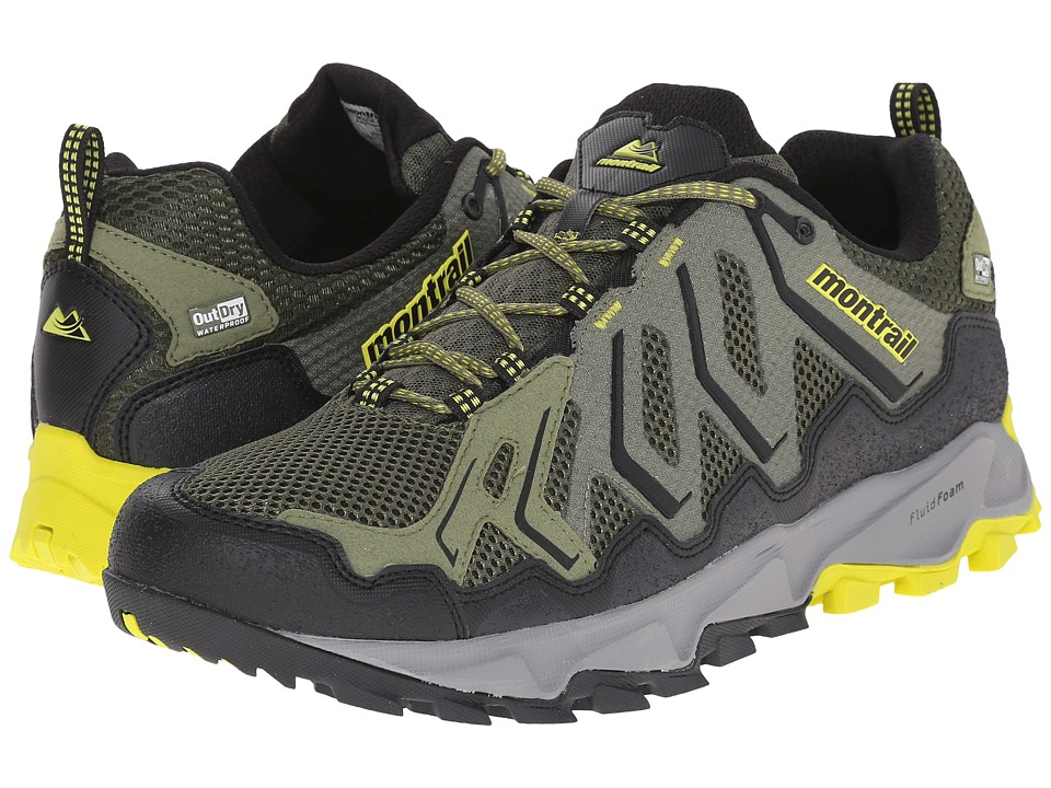 Montrail Trans Alps Outdry Surplus Green/Zour Mens Shoes