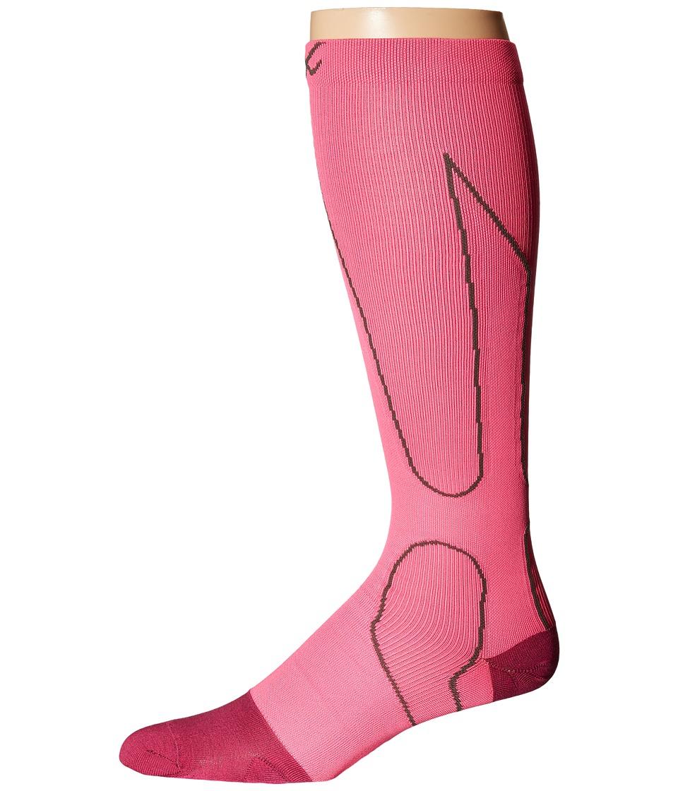 CW X PerformX Socks Pink/Charcoal Crew Cut Socks Shoes