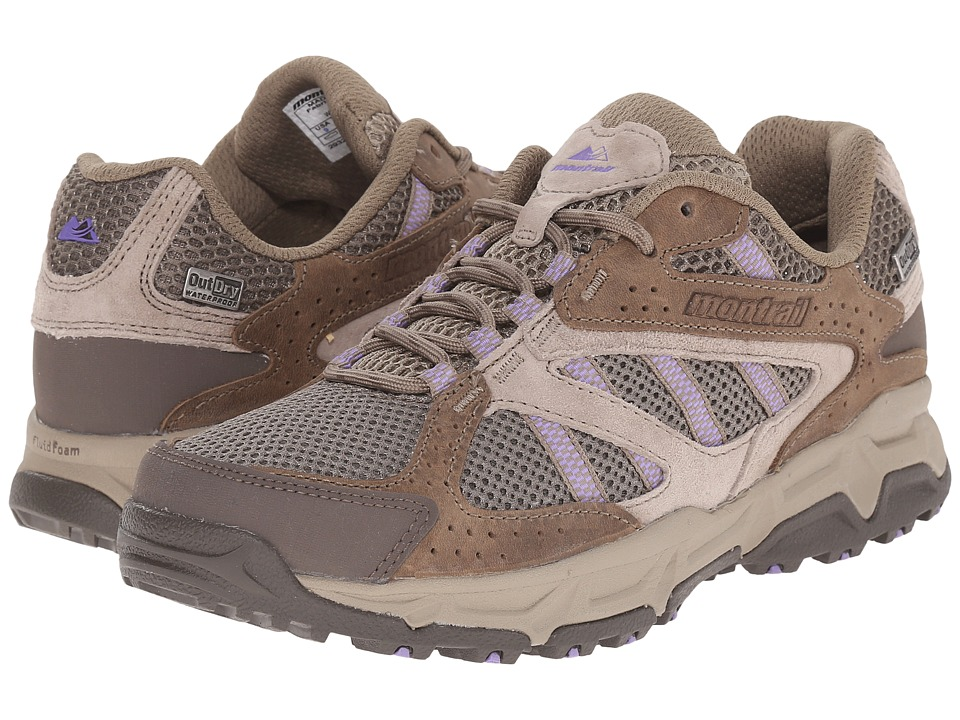 Montrail Sierravada Leather Outdry Pebble/Paisley Purple Womens Shoes