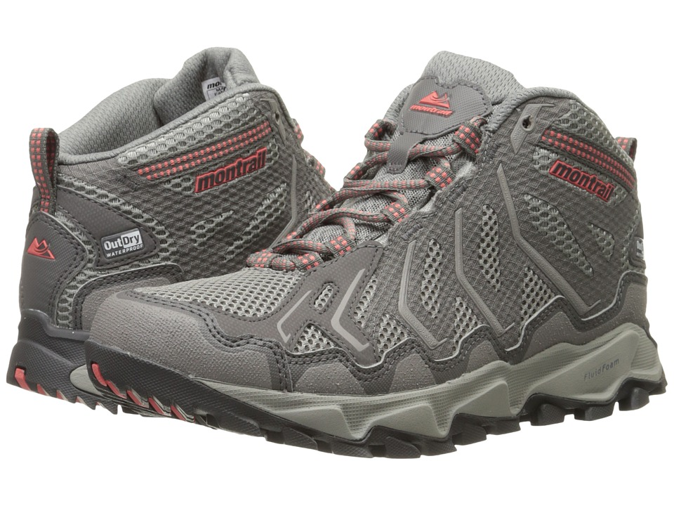 Montrail Trans Alps Mid Outdry (Light Grey/Wild Melon) Women