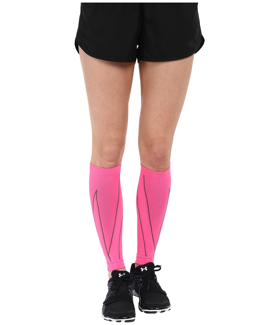 CW X Performx Calf Sleeves Pink/Charcoal Athletic Sports Equipment