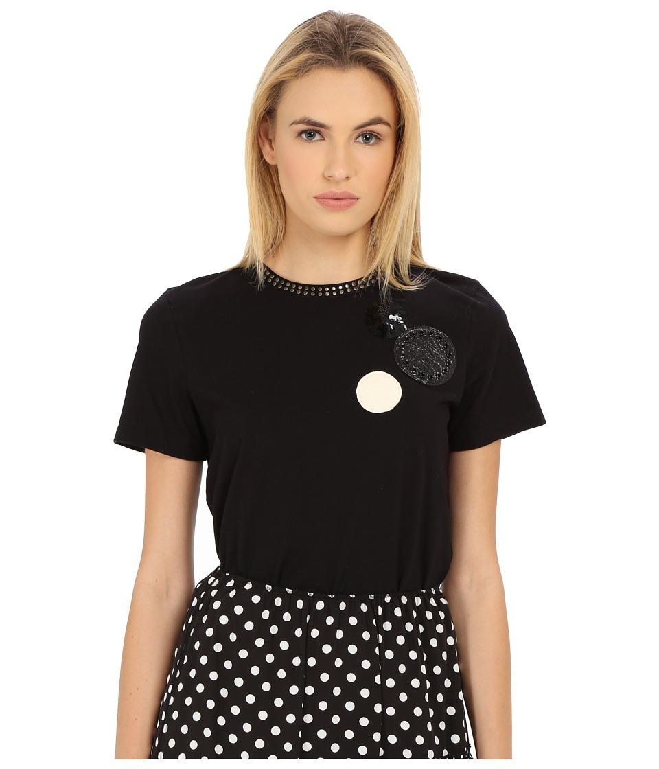 Marc by Marc Jacobs Big Dot Patch Tee Black Multi Womens T Shirt