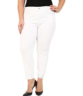 NYDJ Plus Size - Plus Size Amira Fitted Ankle in Optic White