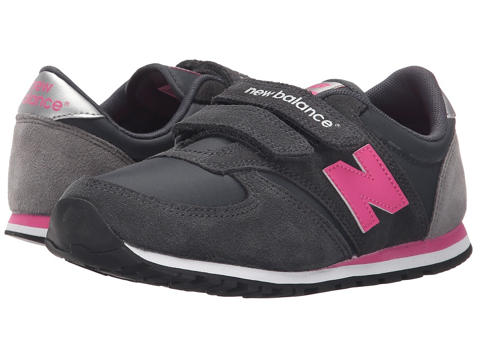 New Balance Kids Classics 420 Little Kid/Big Kid Grey/Pink 1 Girls Shoes