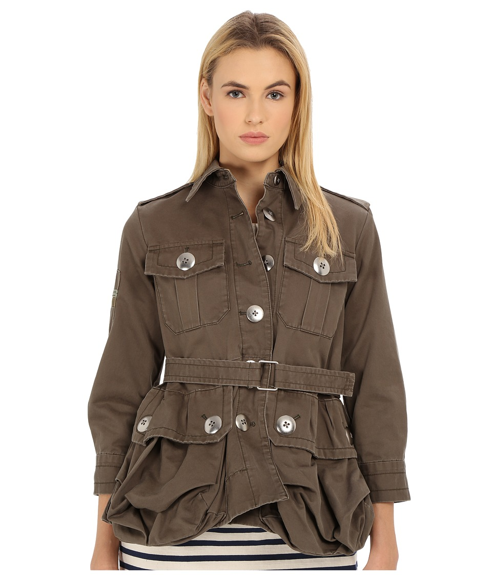 Marc by Marc Jacobs Cotton Twill Collection Cabochon Jacket Sully Green Womens Coat
