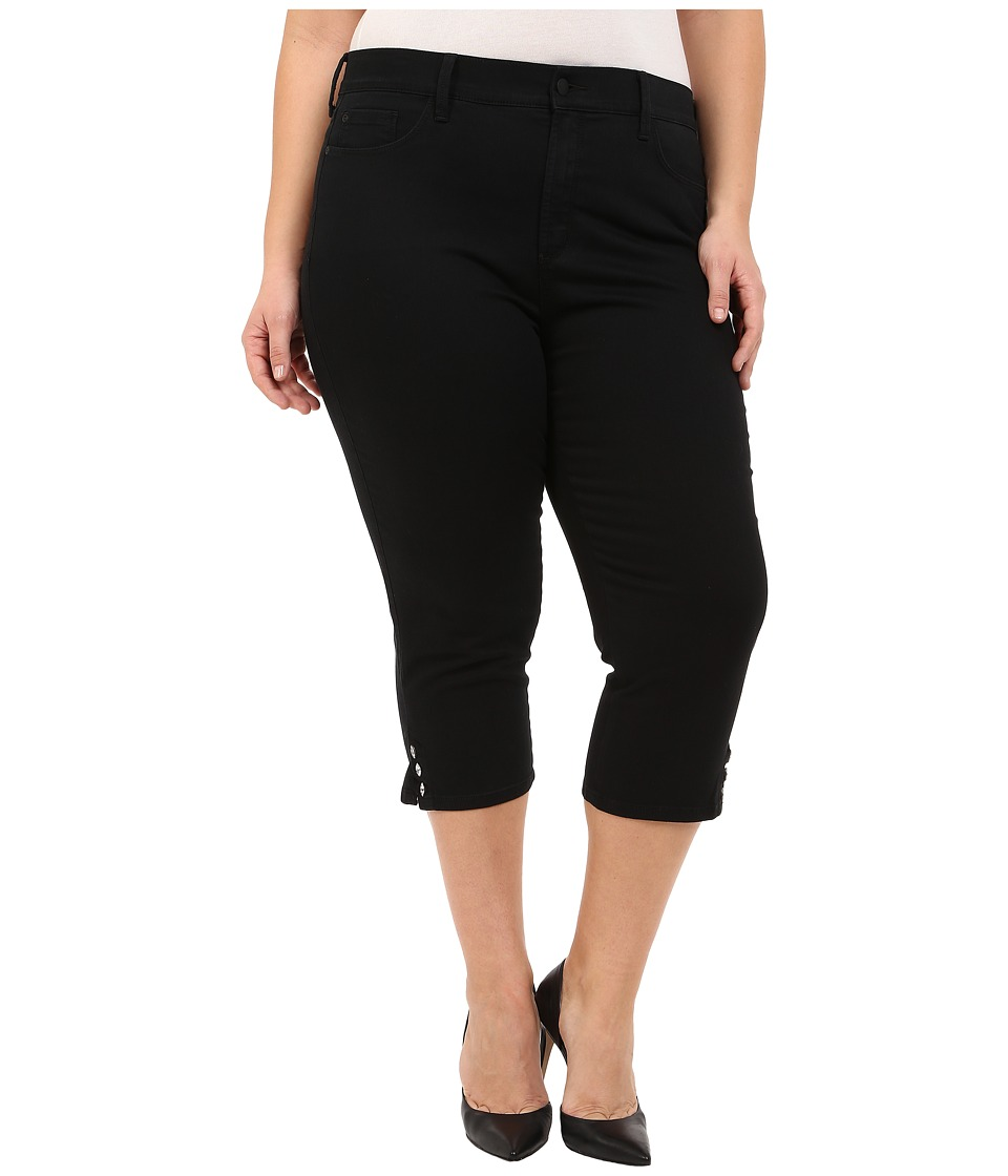 NYDJ Plus Size Plus Size Ariel Crop in Black Black Womens Jeans