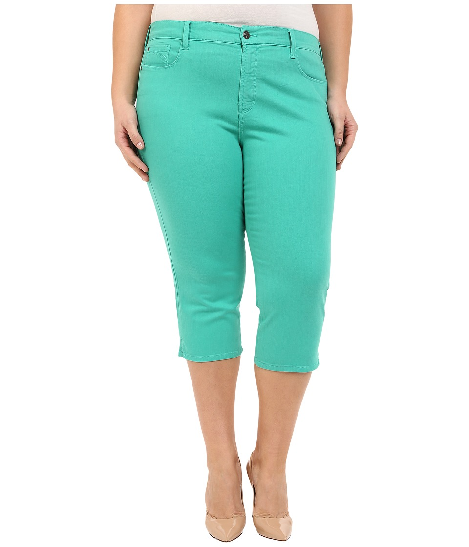 NYDJ Plus Size Plus Size Ariel Crop in Jade Mint Jade Mint Womens Jeans