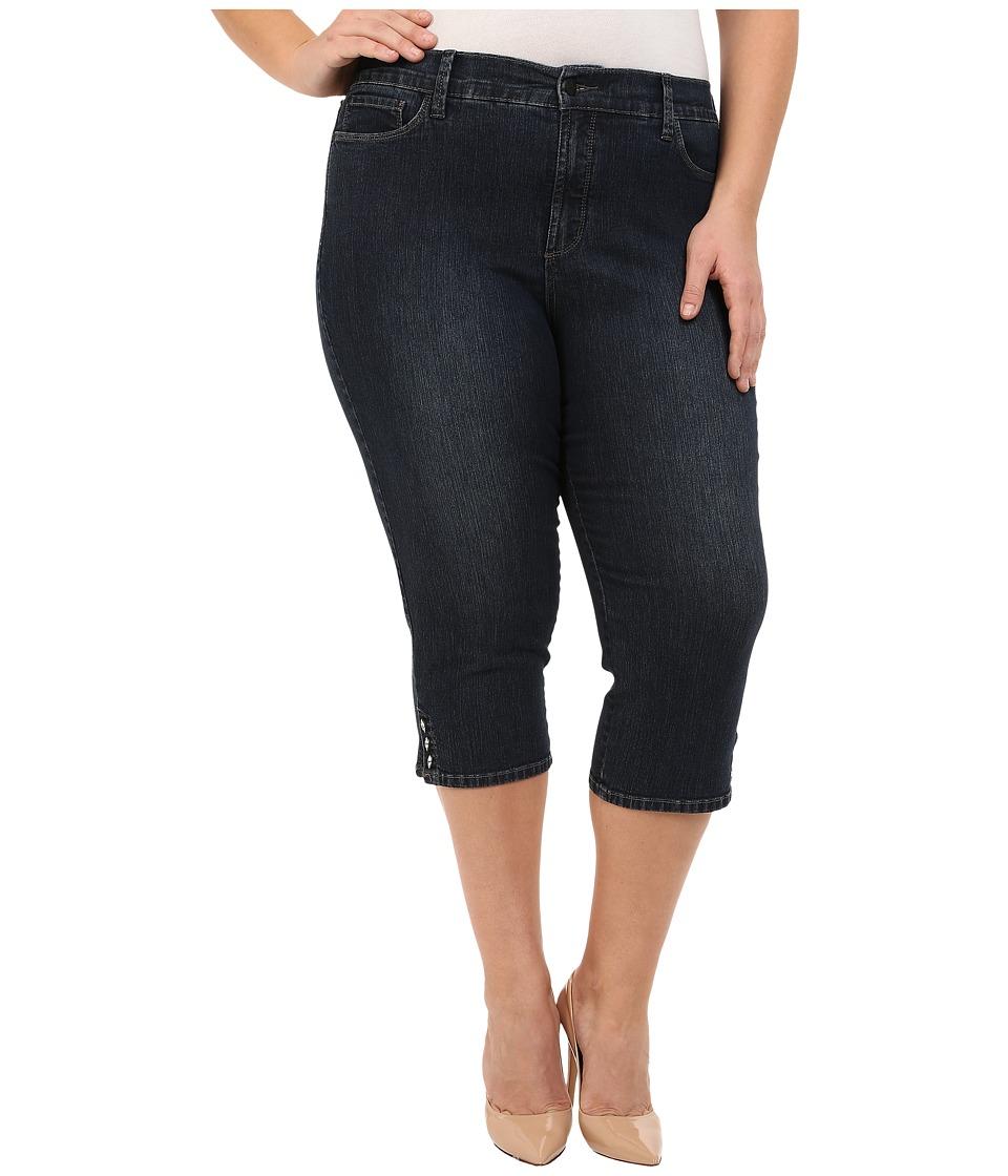 NYDJ Plus Size Plus Size Ariel Crop in Burbank Burbank Womens Jeans