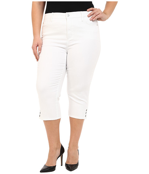 NYDJ Plus Size Plus Size Ariel Crop in Optic White