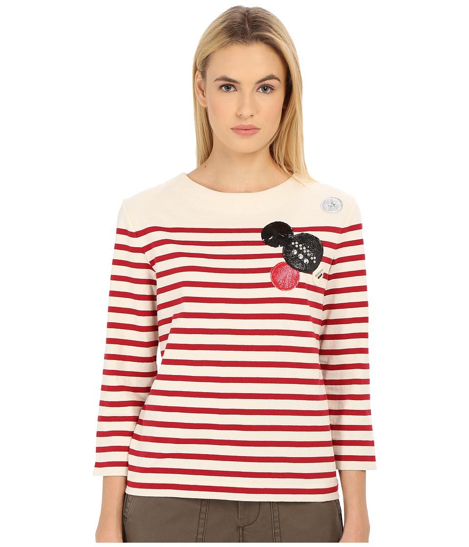 Marc by Marc Jacobs Breton Stripe Top Breton Red Multi Womens T Shirt