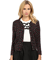 Marc by Marc Jacobs - Leopard Lurex Jacquard Cardigan