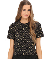 Marc by Marc Jacobs - Leopard Lurex Short Sleeve Jacquard Sweater