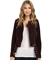 Blank NYC - Burgundy Suede Moto Jacket in Morning After