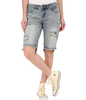 Blank NYC - Ripped Bermuda Shorts in Hate Watching