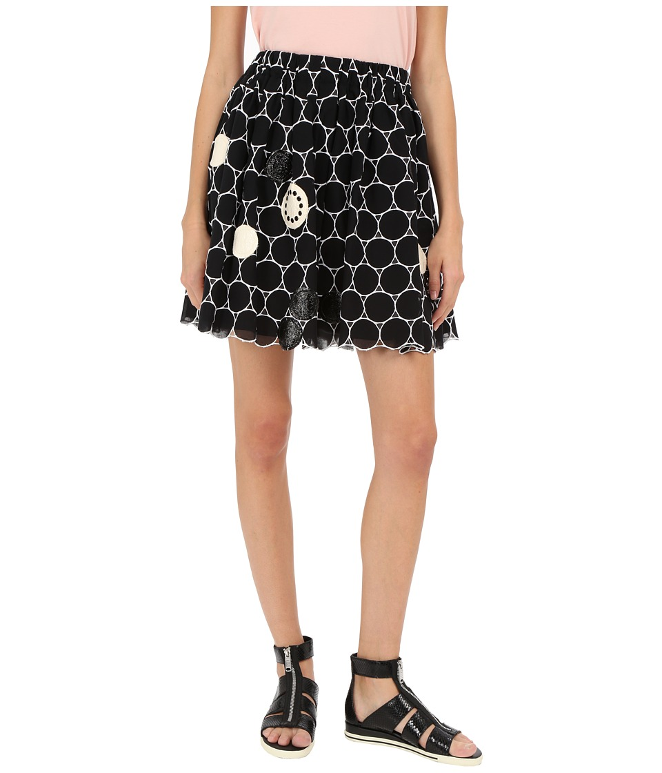 Marc by Marc Jacobs Big Dot Broiderie Anglaise New Skirt Black Multi Womens Skirt