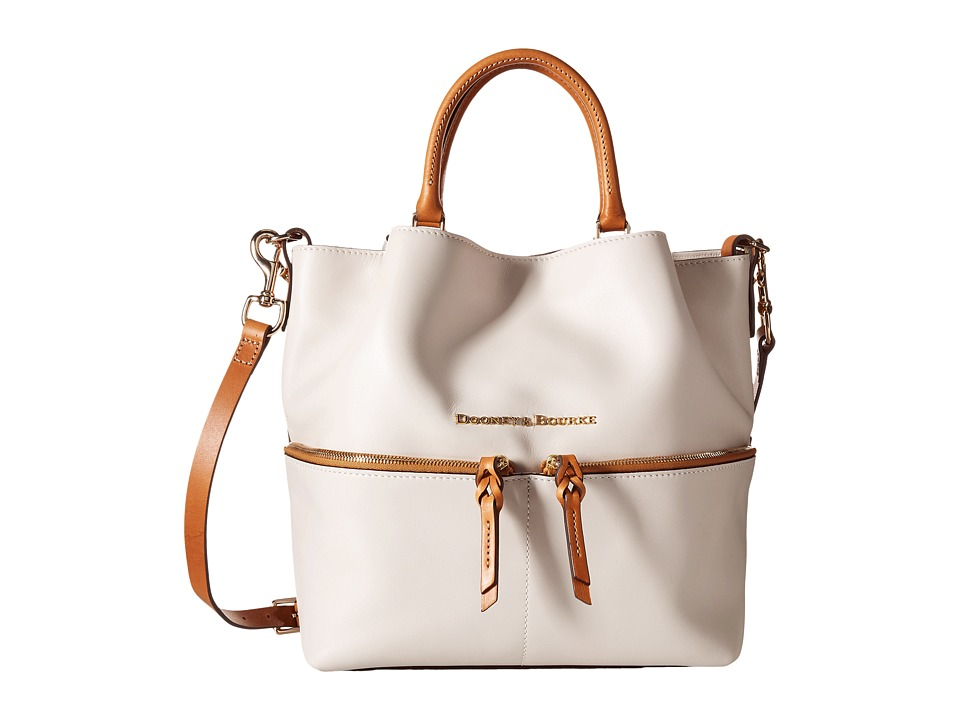 Dooney & Bourke - City Dawson (Bone/Natural Trim) Satchel Handbags