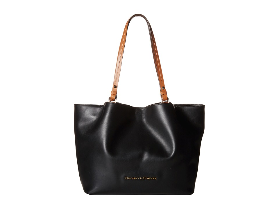 Dooney & Bourke - City Flynn (Black/Natural Trim) Tote Handbags