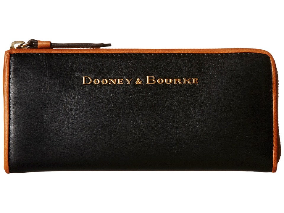 Dooney & Bourke - City Zip Clutch (Black/Natural Trim) Clutch Handbags