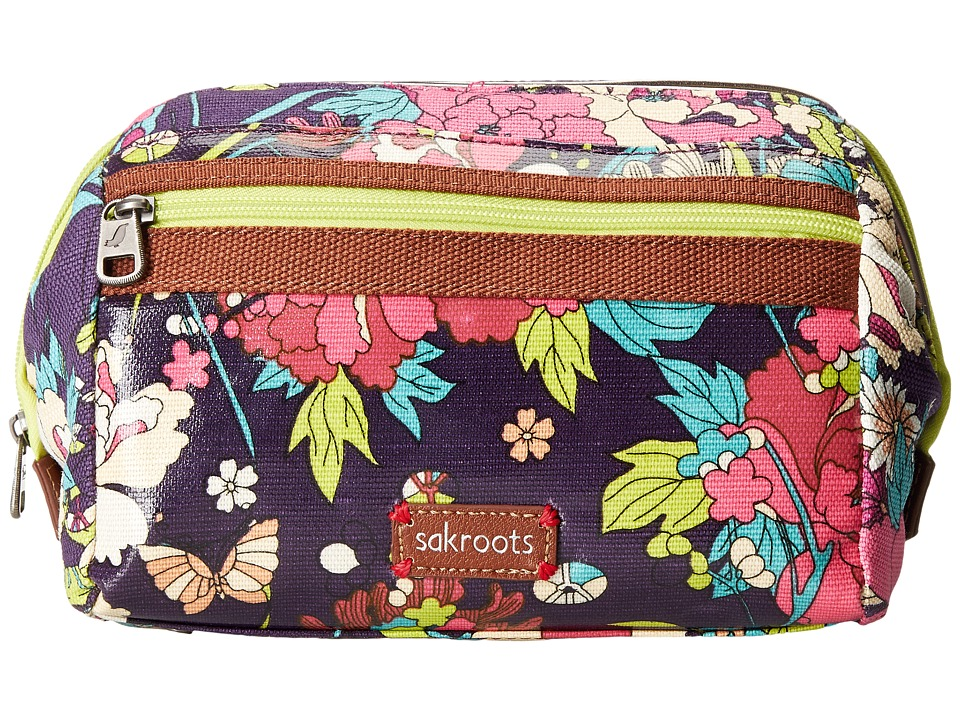 Sakroots - Artist Circle Carryall Cosmetic (Violet Flower Power) Cosmetic Case