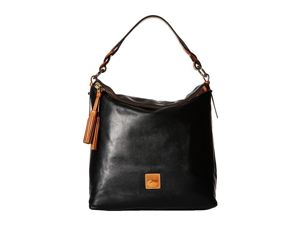 Dooney amp Bourke Newbury Leather Sloan Black/Natural Trim Handbags
