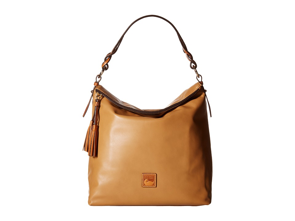 Dooney amp Bourke Newbury Leather Sloan Desert/Natural Trim Handbags