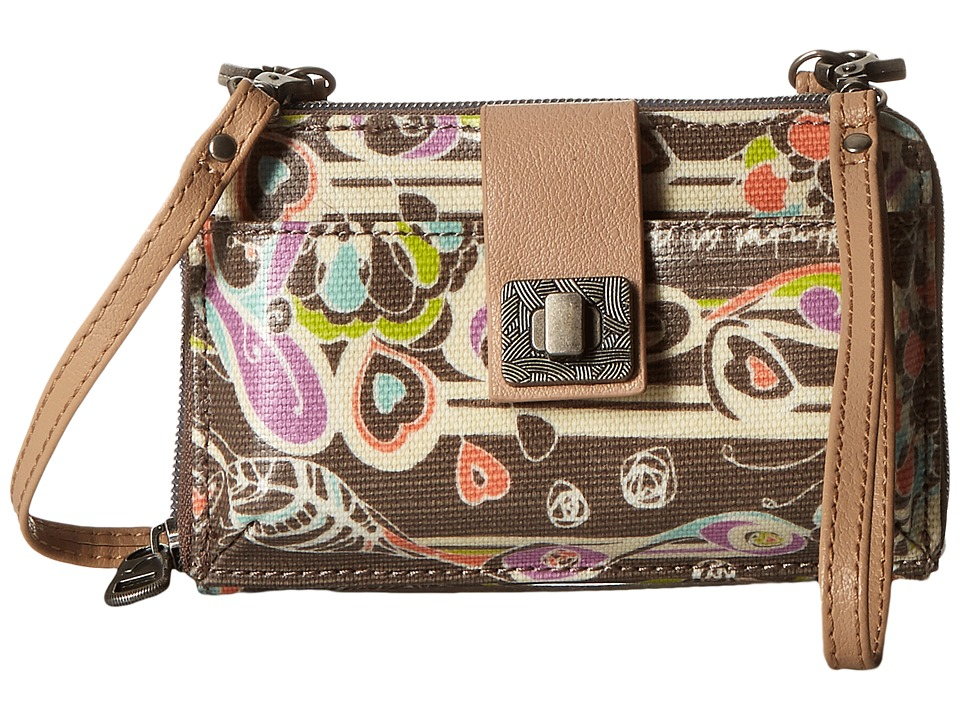 Sakroots - Artist Circle Smartphone Crossbody (Slate Songbird) Cross Body Handbags