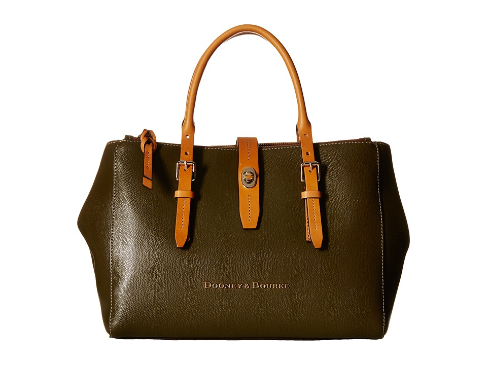 Dooney & Bourke - Claremont Miller Satchel (Olive/Butterscotch Trim) Satchel Handbags