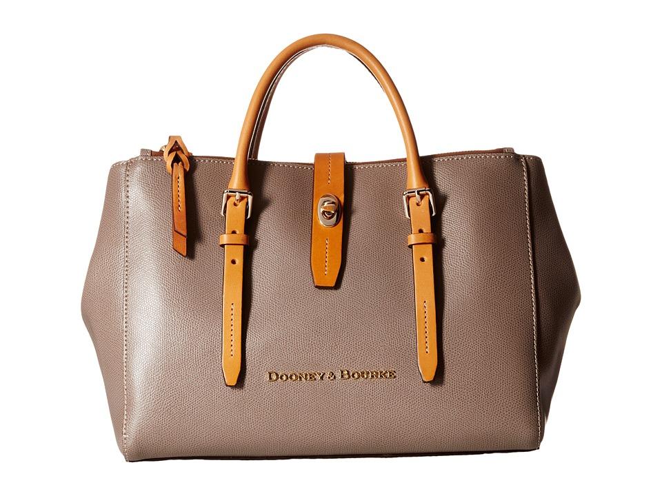 Dooney & Bourke - Claremont Miller Satchel (Taupe/Butterscotch Trim) Satchel Handbags