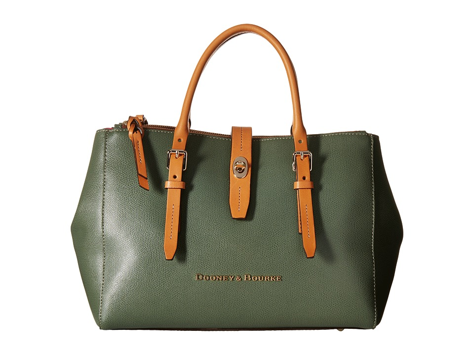 Dooney & Bourke - Claremont Miller Satchel (Sage/Butterscotch Trim) Satchel Handbags