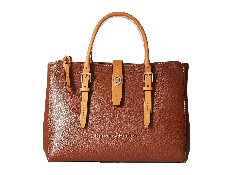 Dooney & Bourke - Claremont Miller Satchel (Amber/Butterscotch Trim) Satchel Handbags