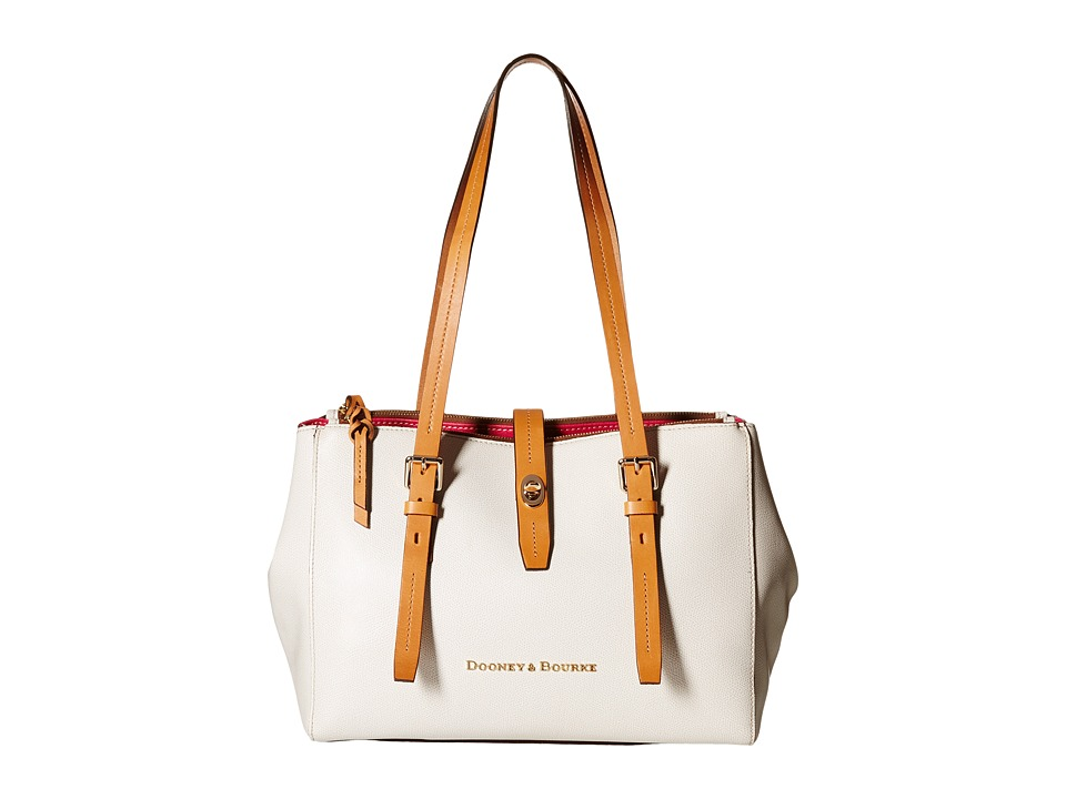 Dooney & Bourke - Claremont Miller Shopper (Bone/Butterscotch Trim) Tote Handbags