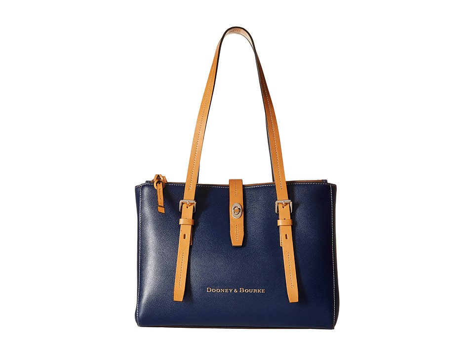 Dooney & Bourke - Claremont Miller Shopper (Navy/Butterscotch Trim) Tote Handbags