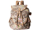 Sakroots Artist Circle Small Flap Backpack (Slate Songbird Sequins)