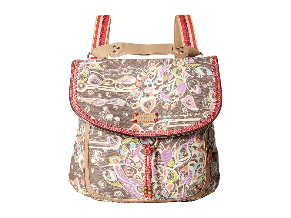 Sakroots - Artist Circle Convertible Backpack (Slate Songbird) Backpack Bags