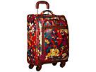 Sakroots Sak Roots Carry On Suitcase (Crimson Flower Power)