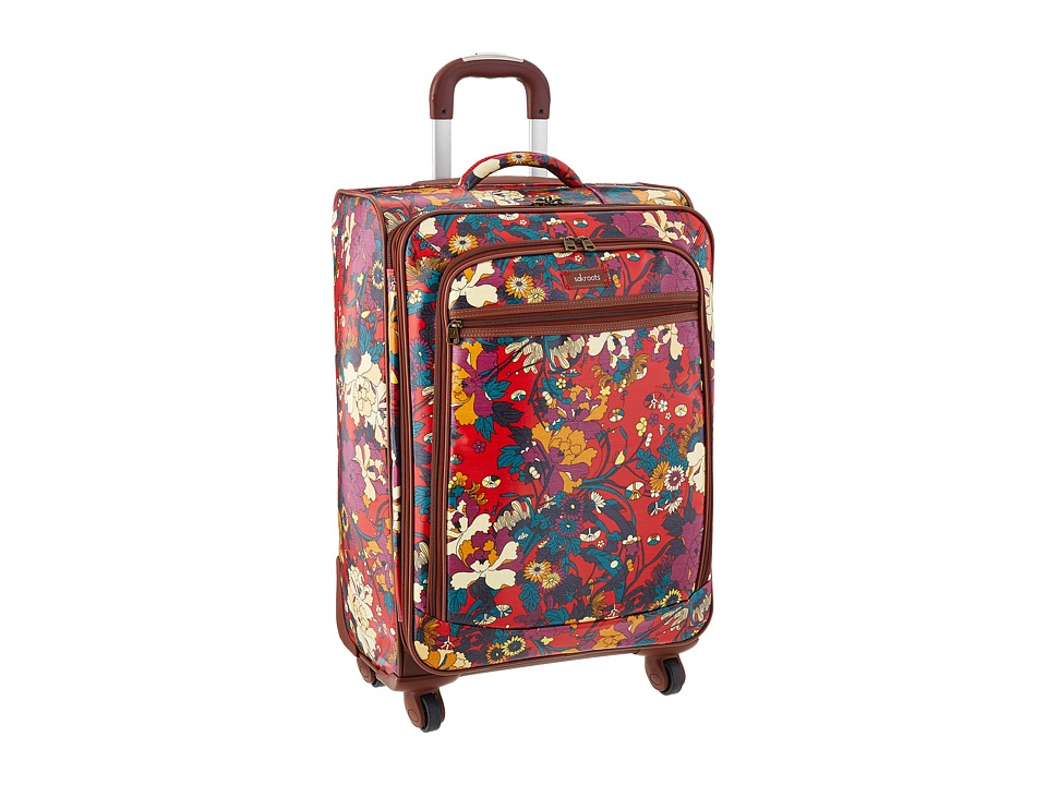 Sakroots - Artist Circle 26 Suitcase (Crimson Flower Power) Carry on Luggage