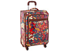 Sakroots Artist Circle 26 Suitcase (Crimson Flower Power)